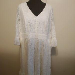 ModCloth White Vintage Lace Dress